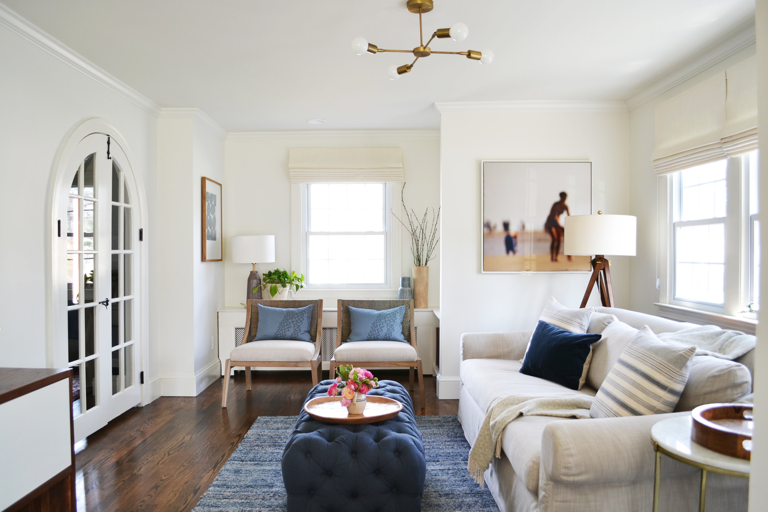 before + after: a cozy family room  rehabitat
