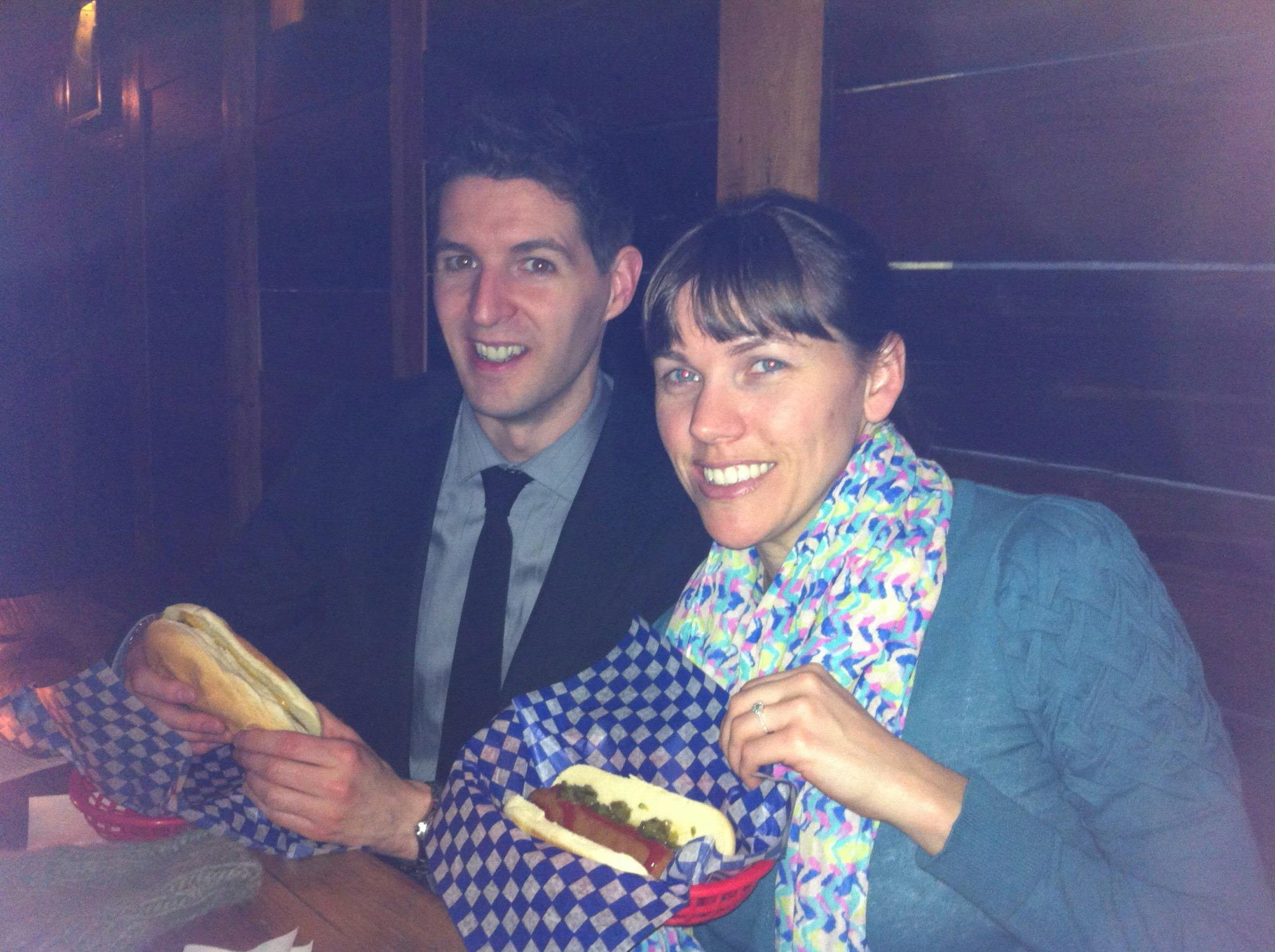 We celebrated with beer and red hots at Portside Pub, a new craft beer pub in Gastown.