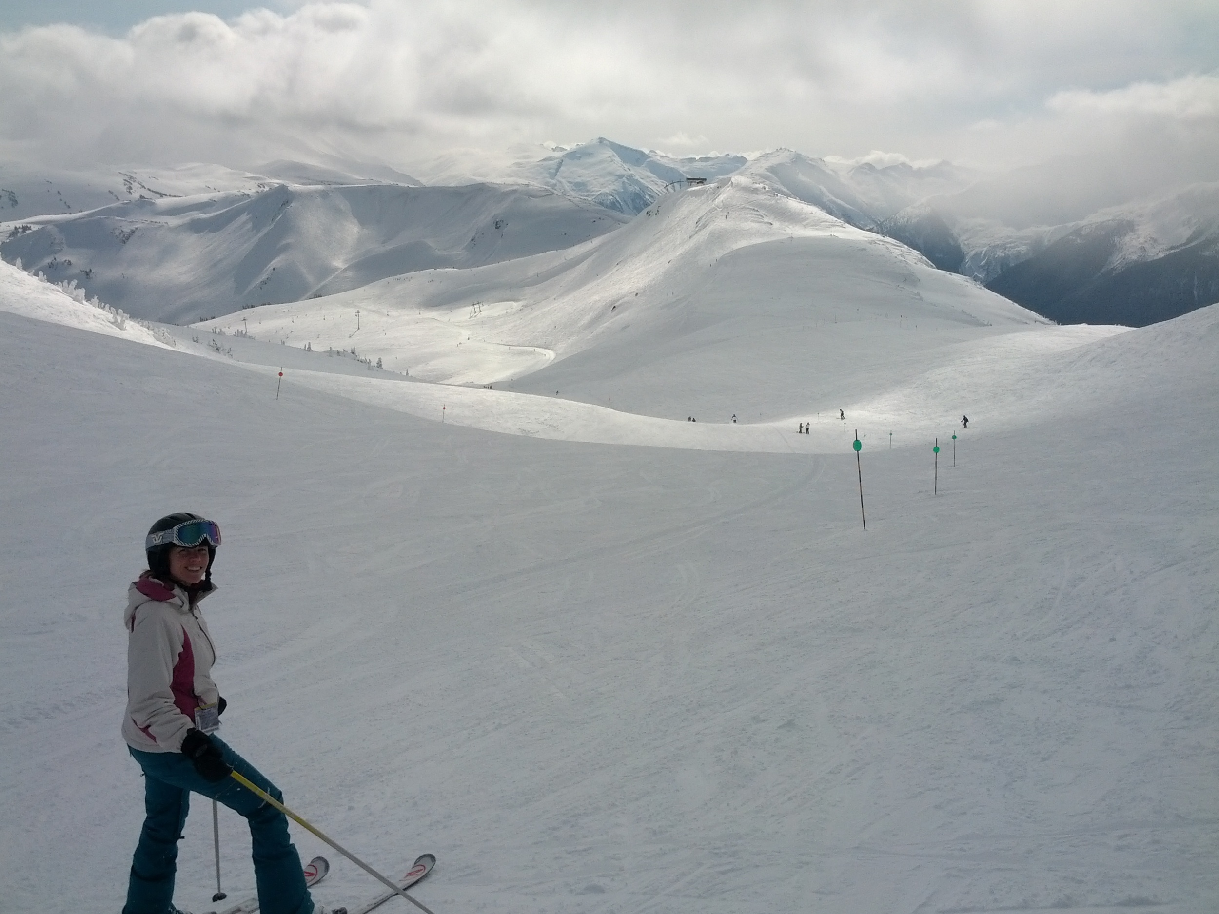 View from Symphony Bowl on Whistler Mountain