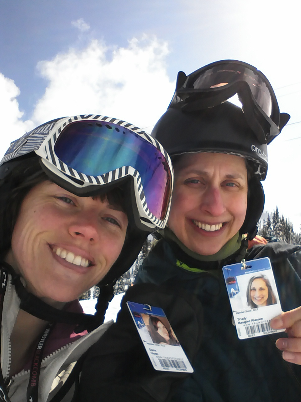 Trudy and I with our Edge Cards.
