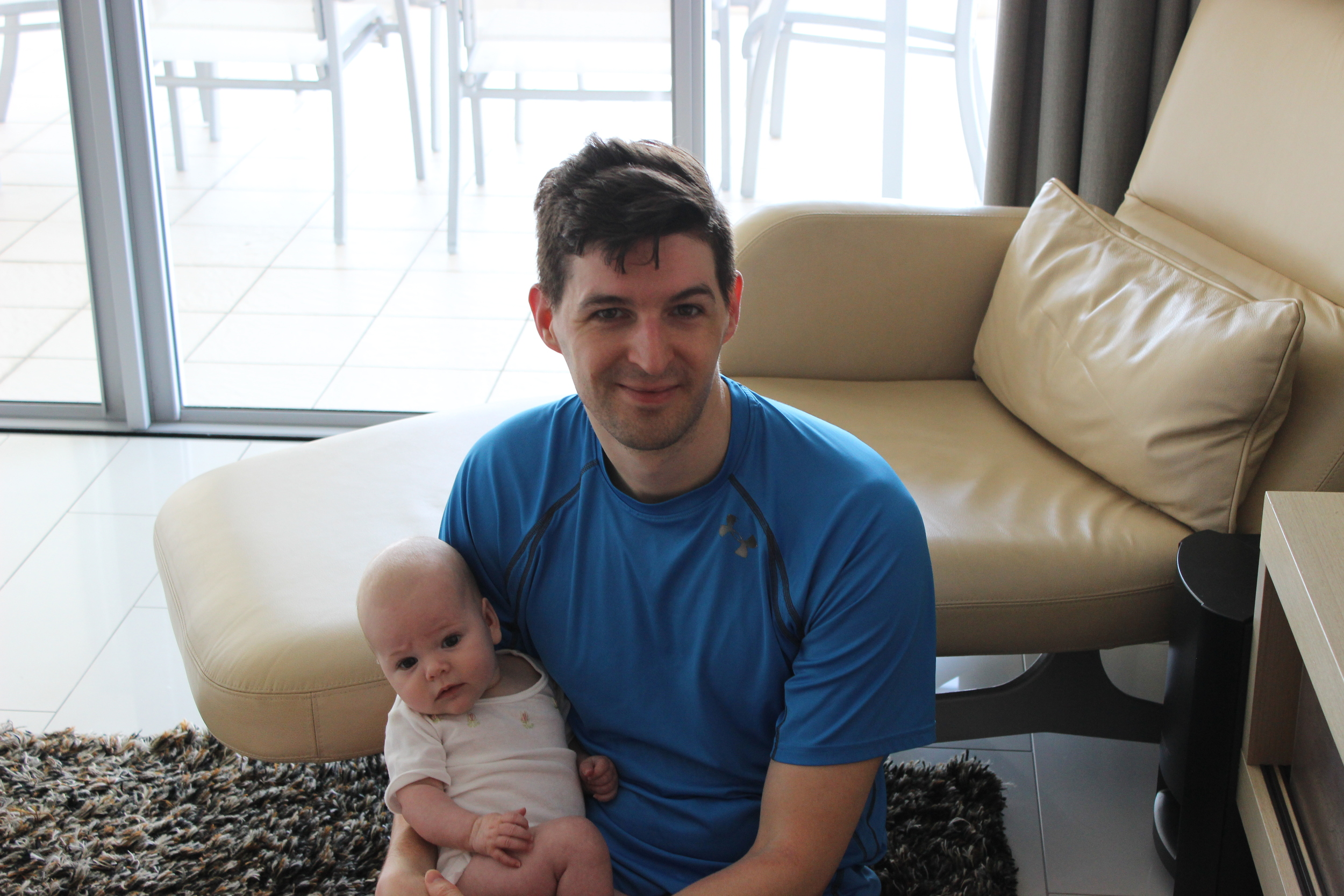 Dave with the cutest little bean an best travelling baby, Charlotte.
