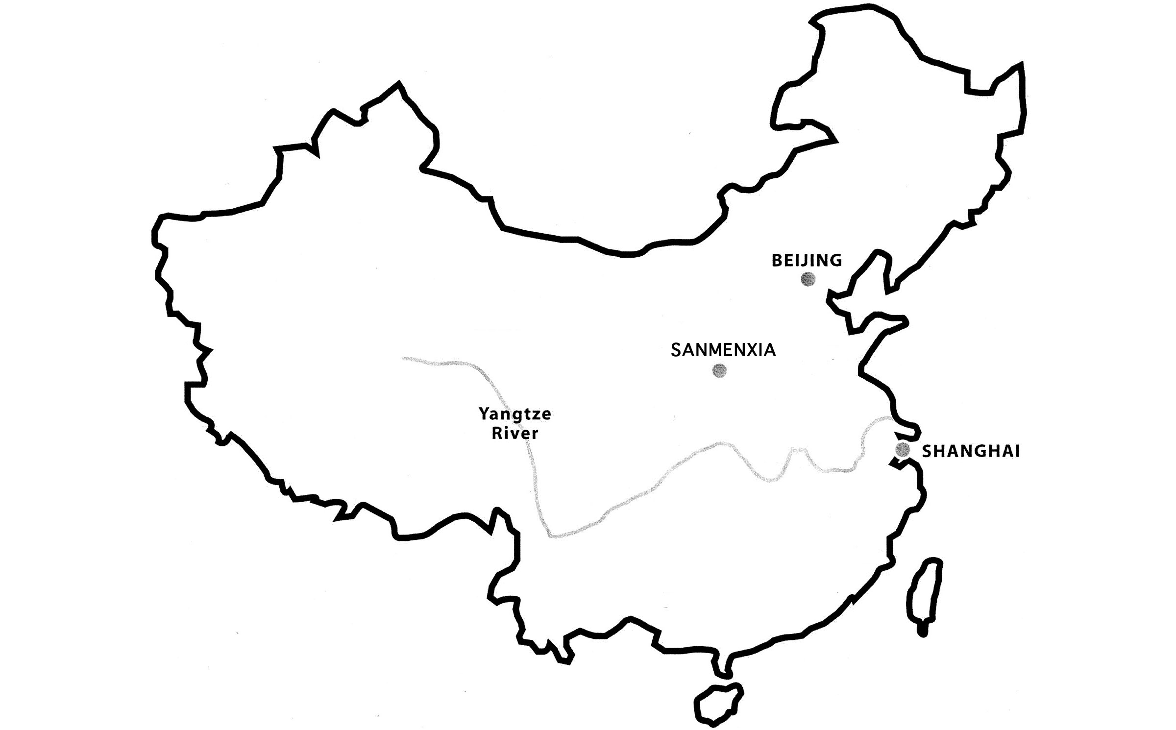 Location of ICC care home:  Sanmenxia, pop. 100,000
