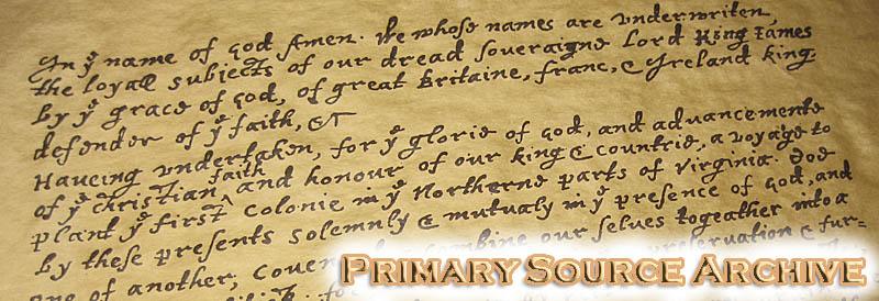 Primary Sources — MayflowerHistory Com