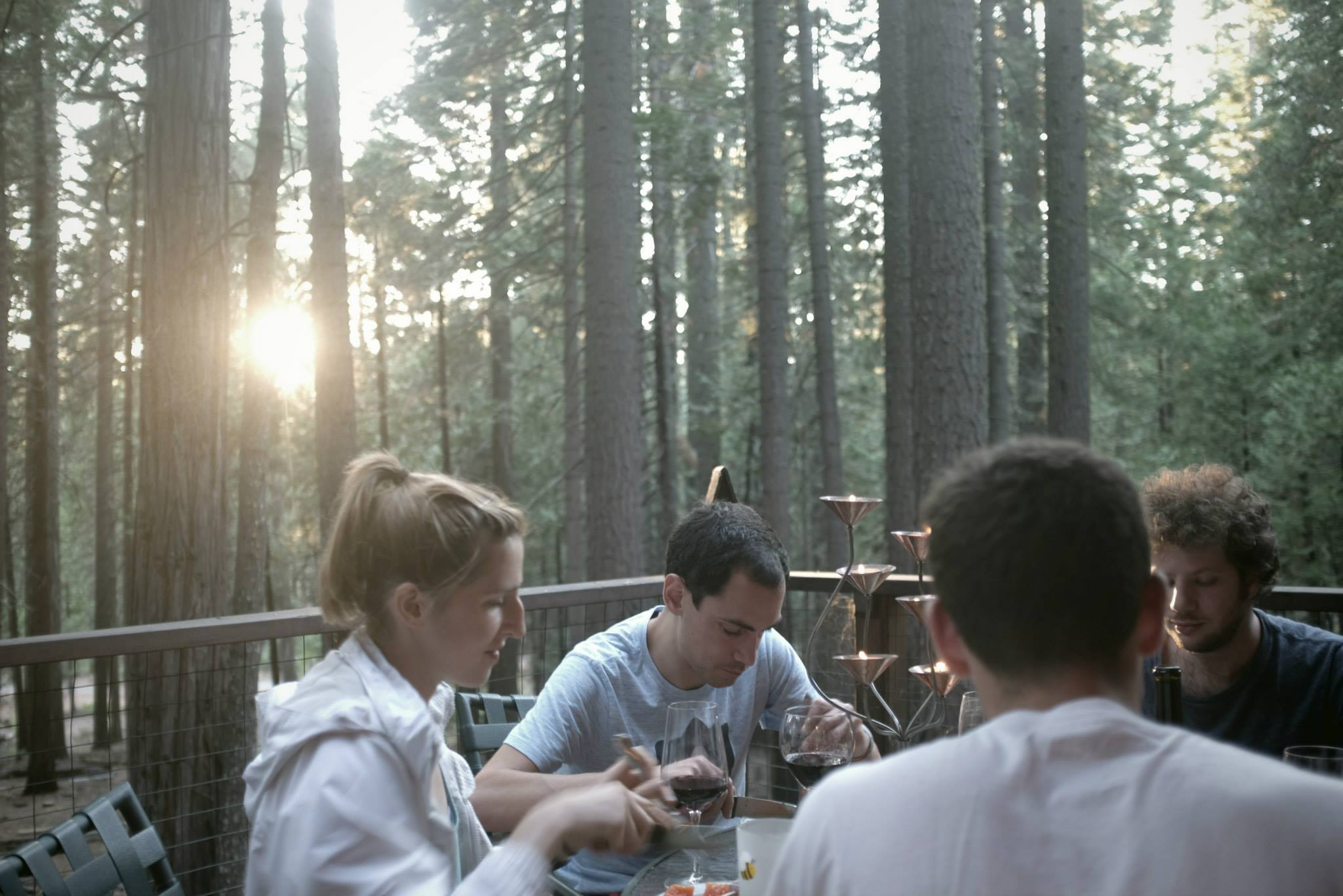 We made dinner in the woods