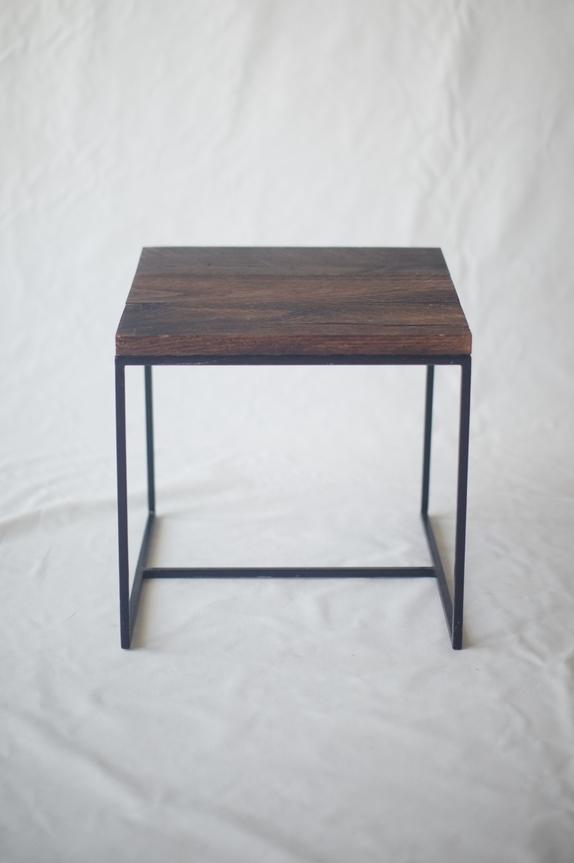 dark oak side table signature boutique event rentals maui hawaii