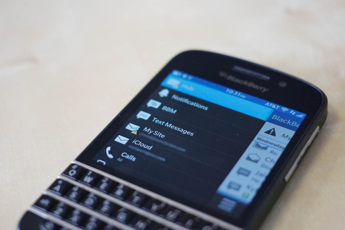 The BlackBerry Q10 |Jason Cipriani for the PULP