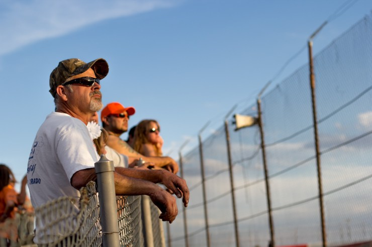 Jack Roberts and race fans watching the action at the I-25 Speedway | Photo PULP
