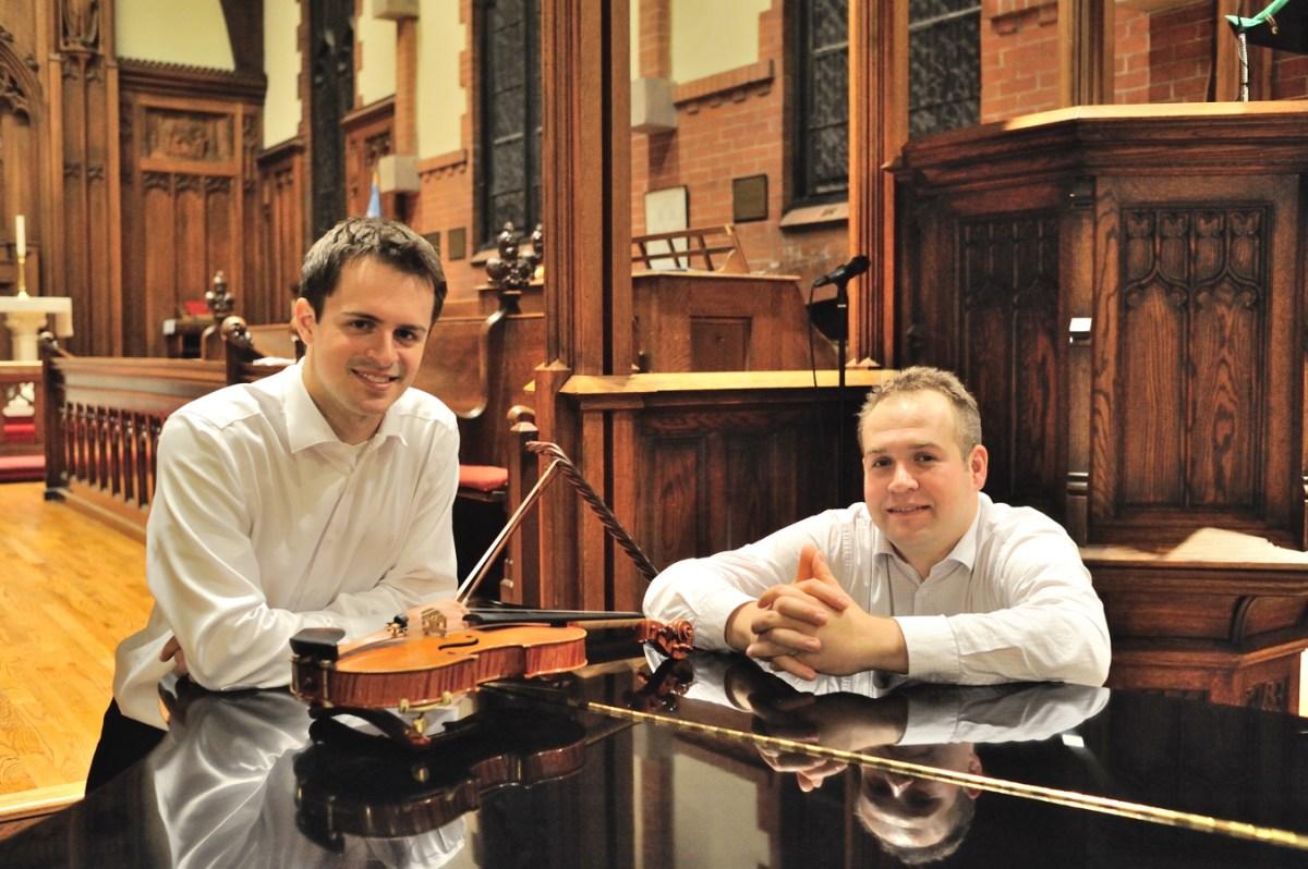 Geoffrey Herd, violin and Zahari Metchkov, piano (Photo Courtesy Zhari Metchov)