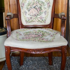 Antique Queen Anne Chair Covers For Garden Chairs With Embroidered Cushions Real Good Goods Co