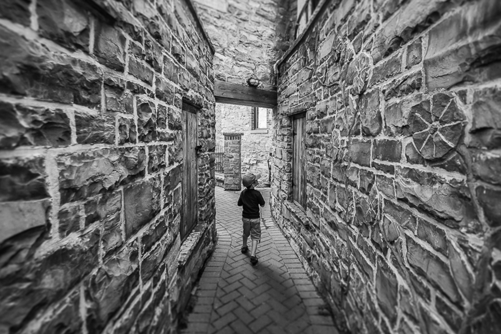 The Walls Are Closing In Again, with the wide angle shot, I love how this shot captures a moment and the composition and textures just bring you into the image... also a great weekend trip with the family.