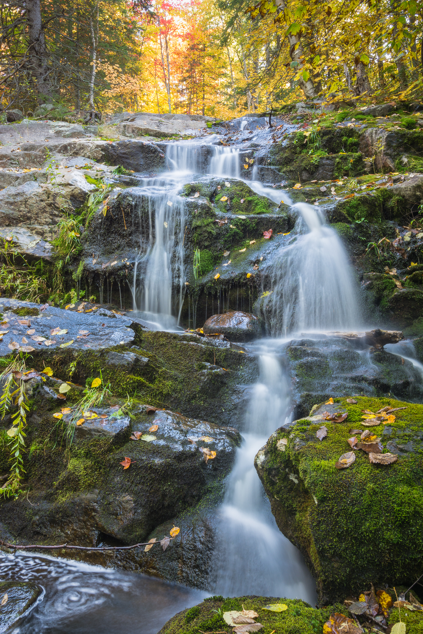 Waterfall on Centennial Ridges Trail (5s, f/22, ISO100)