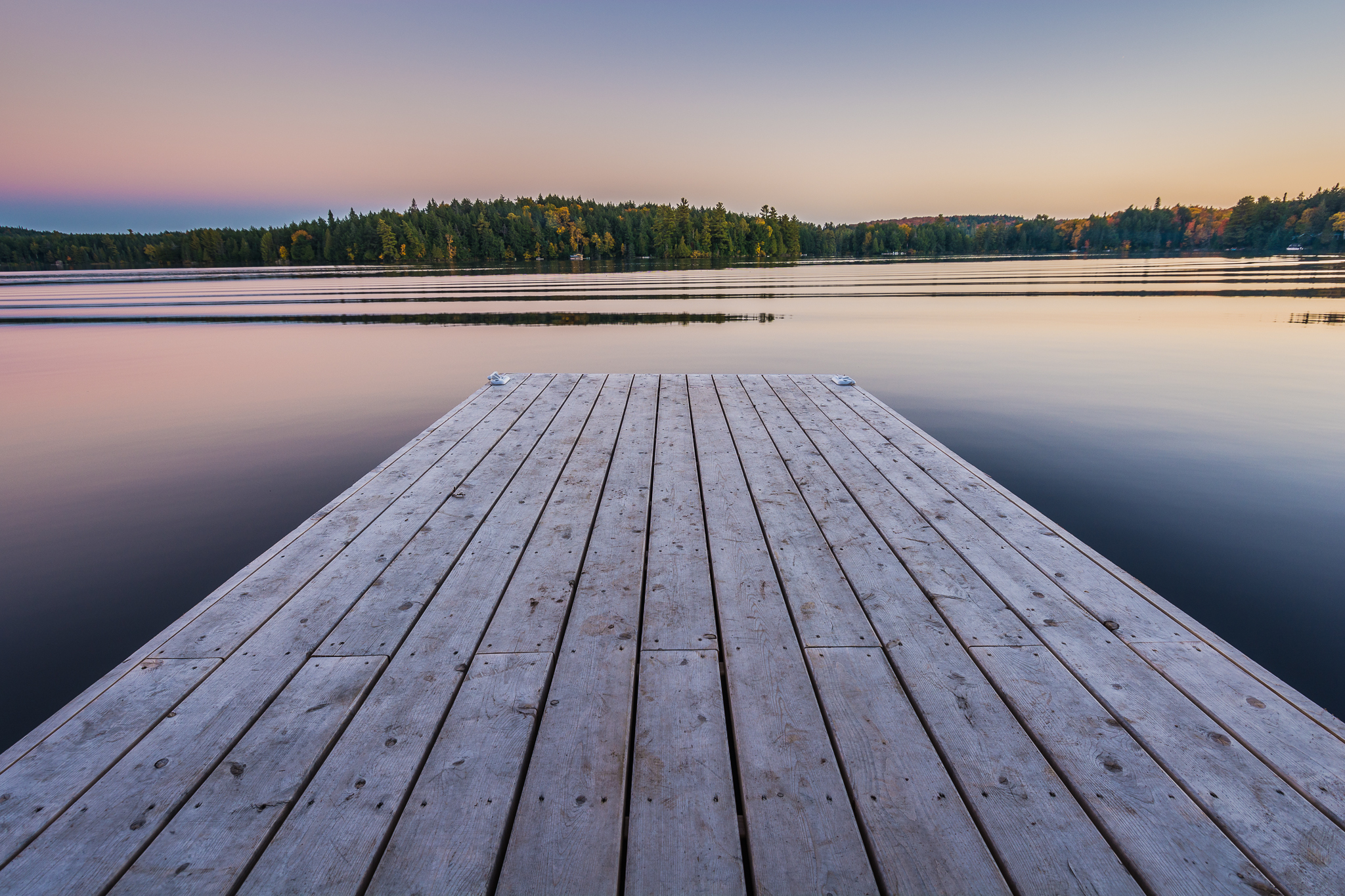 Dock at Cache Lake (1/6s, f/8, ISO100)