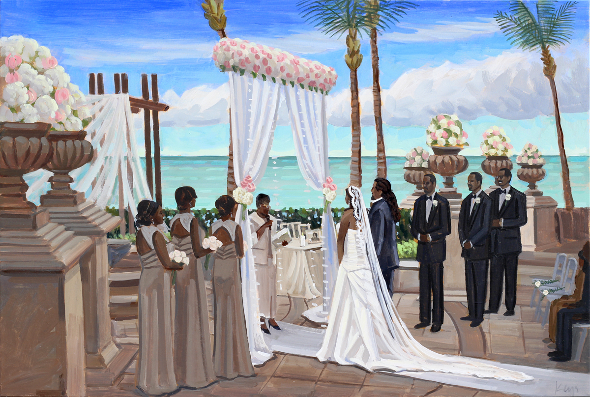 Ashley And Rene Wed On Canvas Live Event And Wedding