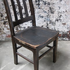 Blue Metal Folding Chairs Pottery Barn Napoleon Wood Seating — Primate Props
