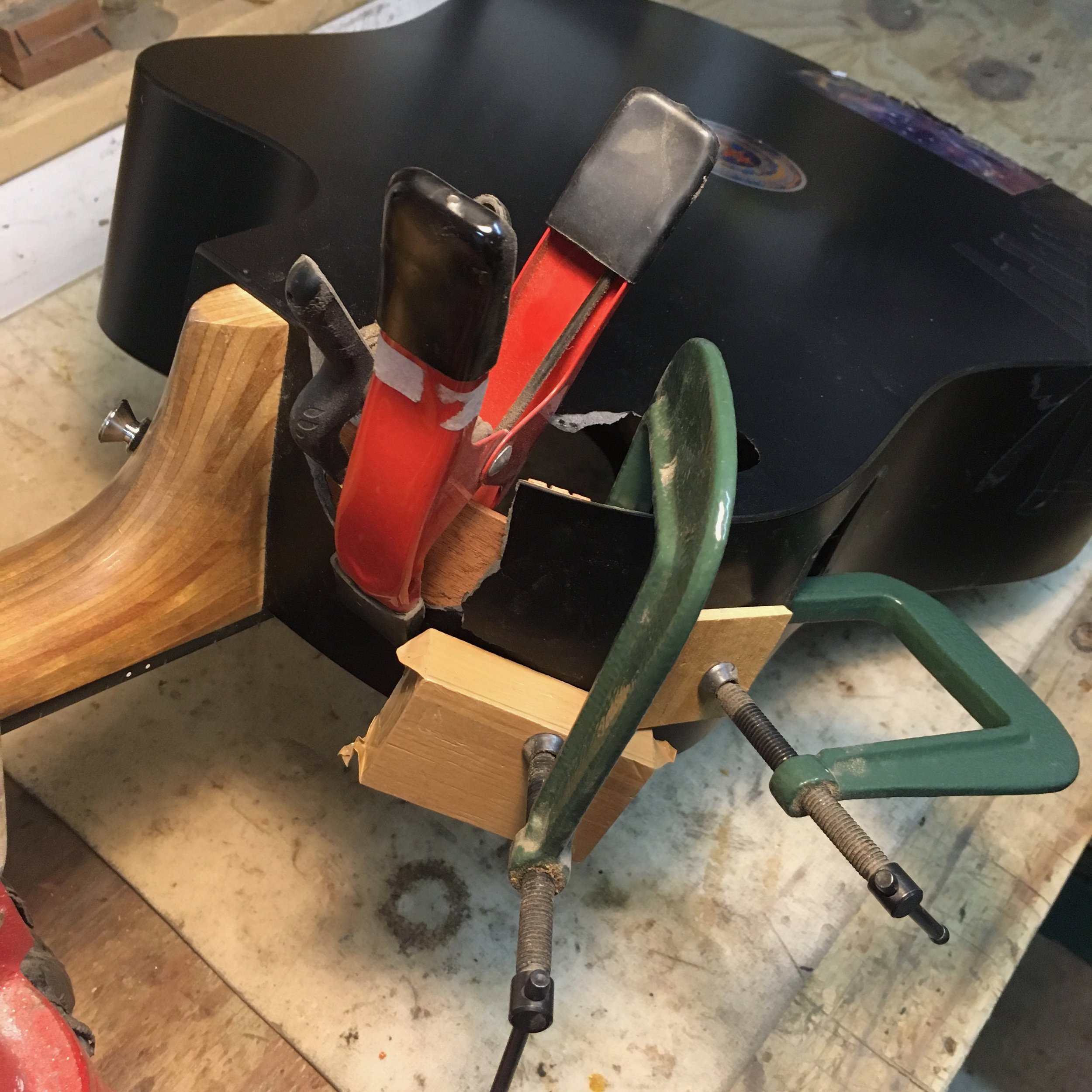 guitar shaped chair pink slipcover what you should know about high pressure laminate hpl guitars i ve had to bend some wood glue the sides this will