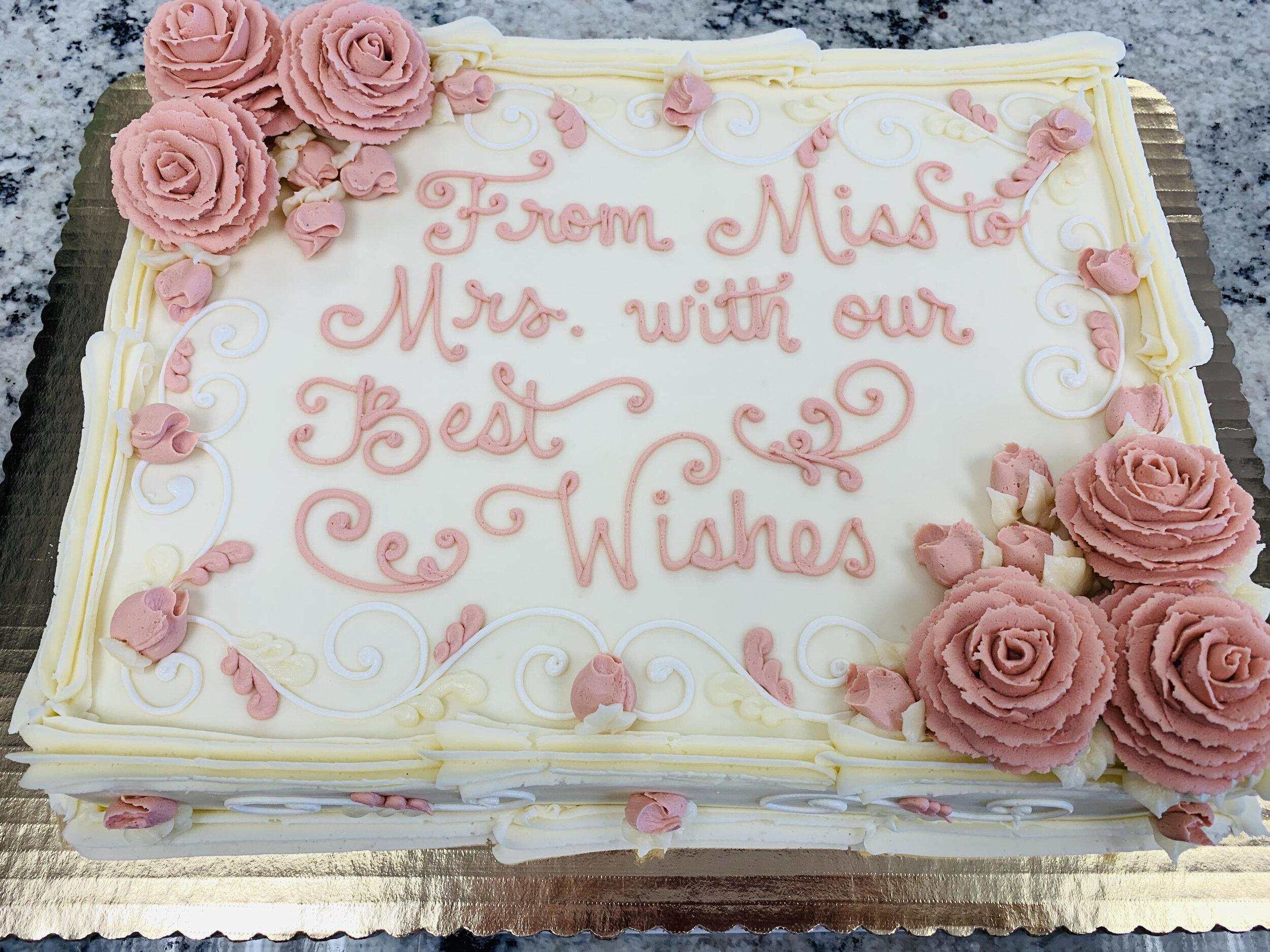 Bridal Shower Cakes Philadelphia Pa Sophisticakes