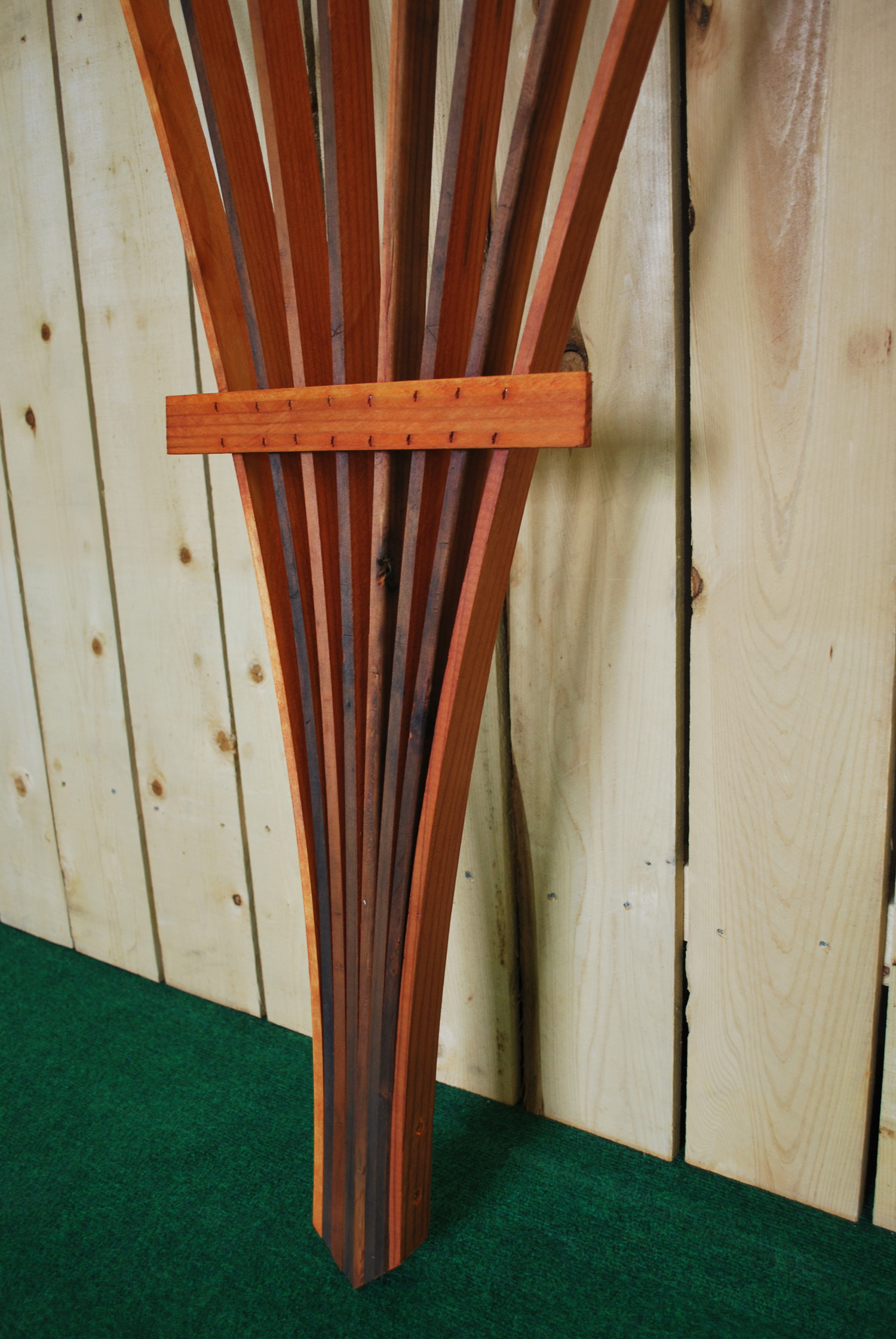 swing chair with stand outdoor chairs storage space spec_tre fan trellis — the redwood store