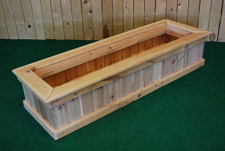 chair planter stand folding hammock pl_box cedar rectangle planters — the redwood store