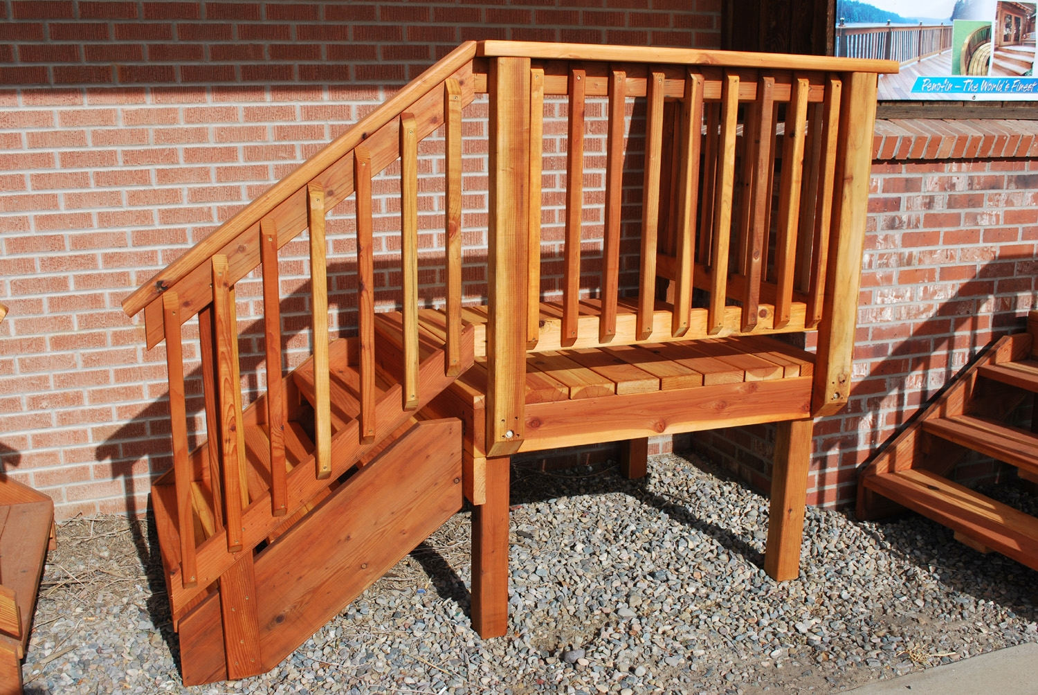 Deck Stair — The Redwood Store   Ready Made Outdoor Stairs