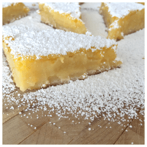 Recipe Classic Lemon Bars Dessert Fiend