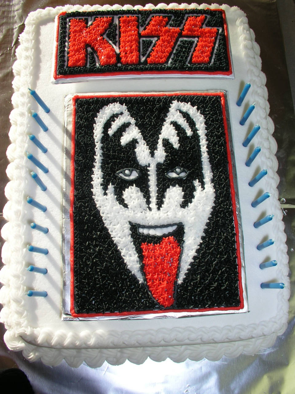 Kiss Band With It On Birthday Cakes
