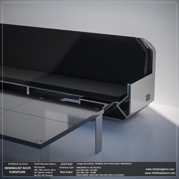Minimalist Sci-fi Furniture Set Vitaly Bulgarov