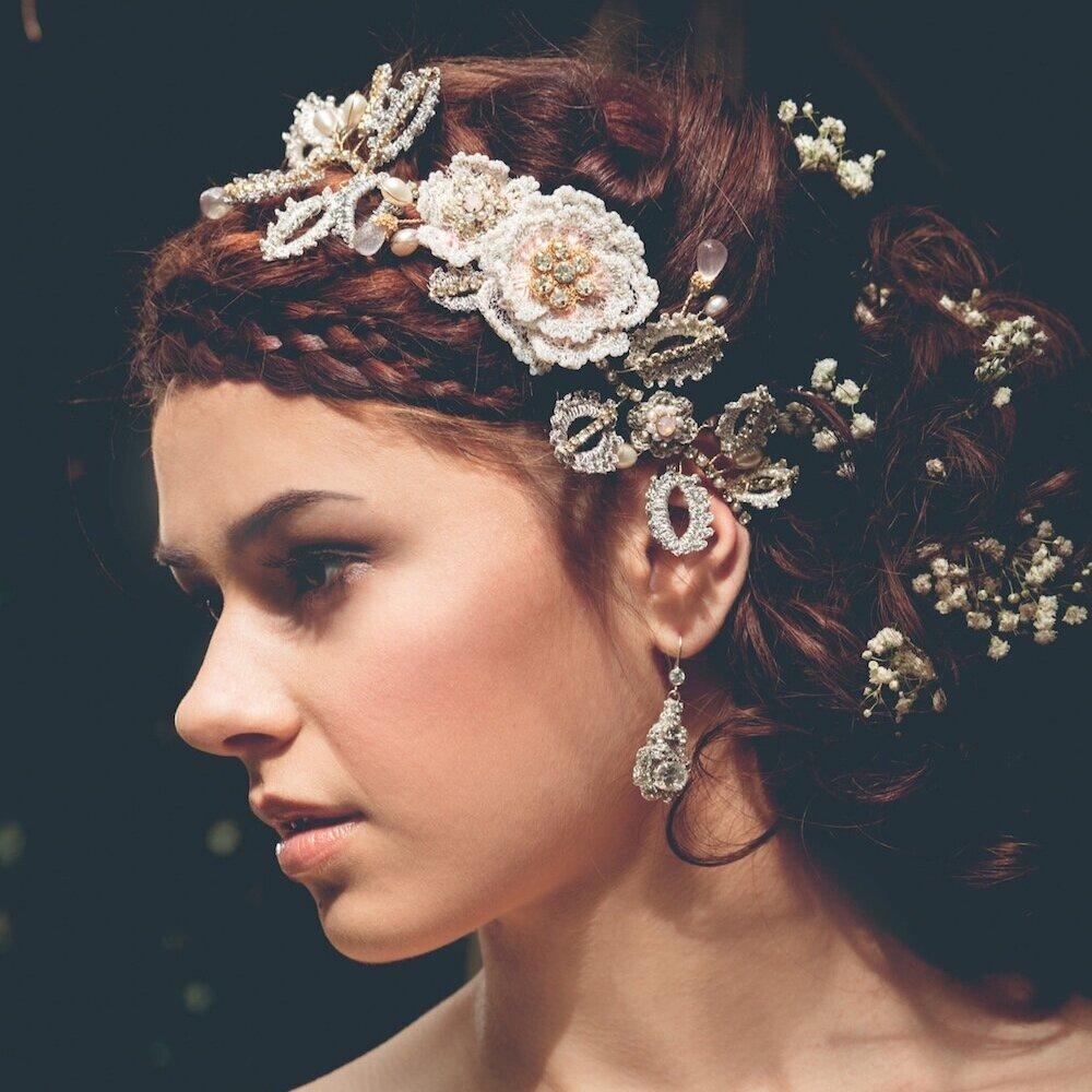 aphrodite rose hair vine - headband