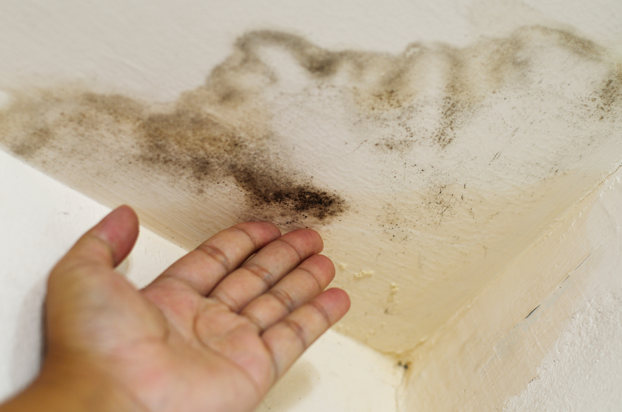 What can be done to repair a ceiling stain from a leaking ...