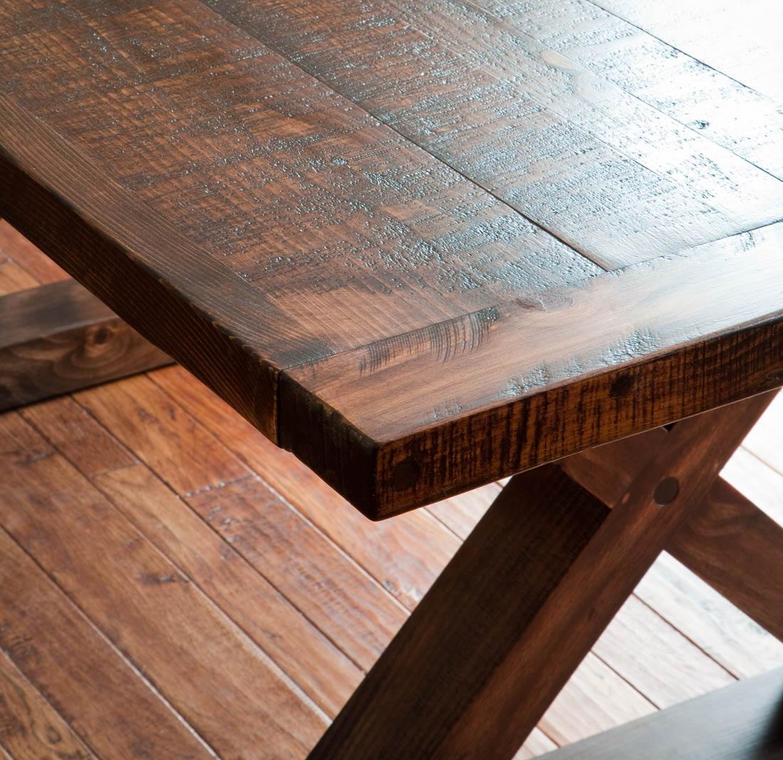 RoughSawn Barnwood Kitchen Table  Vale Lorin Bruck Design