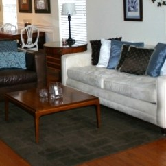 Area Rug In Small Living Room Furniture Sets Clearance Proper Sizing For A Before And After Beckwith S Rugs Are An Important Element My Decor Primarily Because Over The Years I Have Removed Every Stitch Of Carpet House Except Master