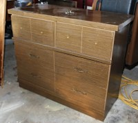 Ugly laminate dresser before and after...  Beckwith's ...