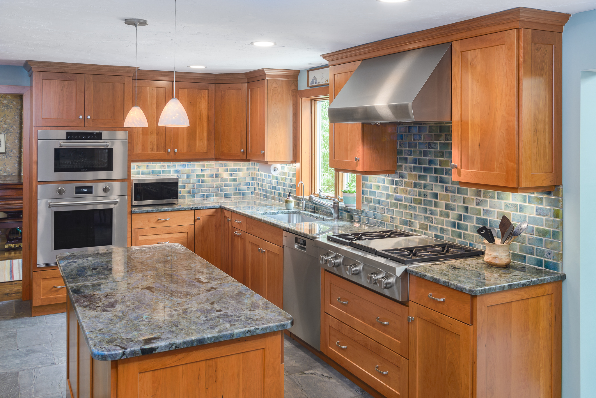 kitchen remodle countertop tile ocean inspired remodel in bolton ma associates massachusetts remodeling