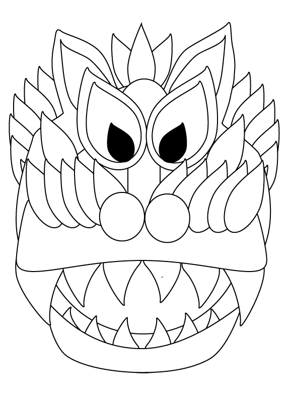 Chinese New Year Dragon and Lantern Coloring Sheets — My