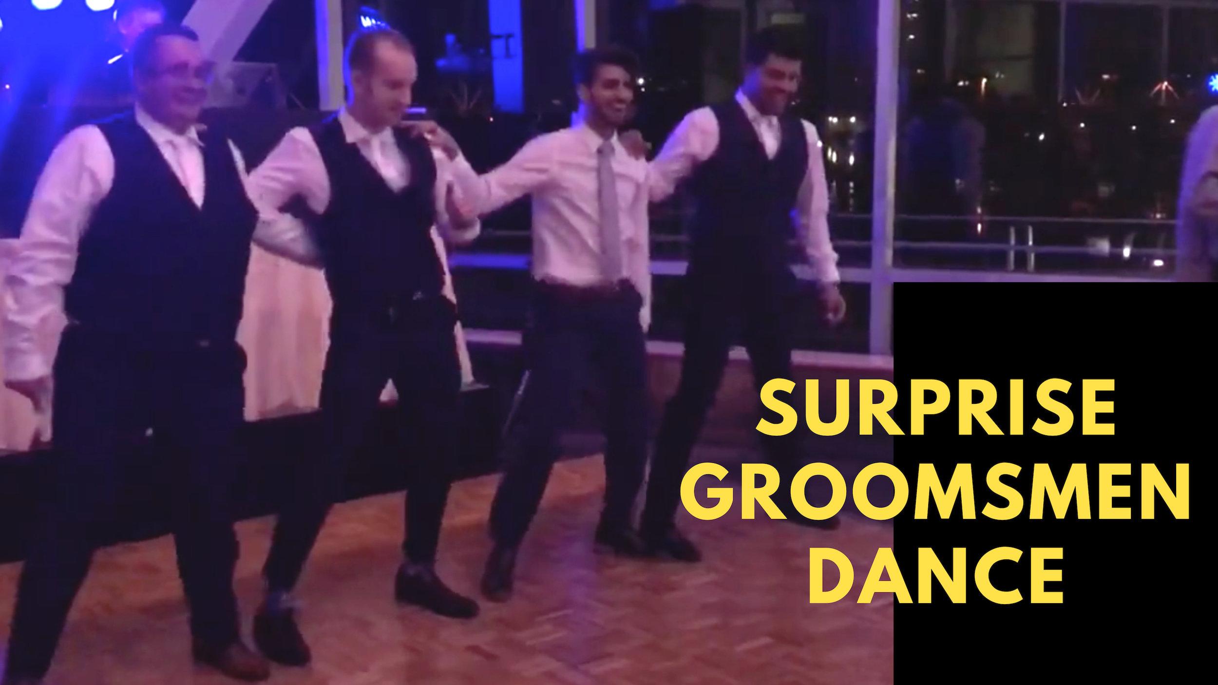 bridal party dances duet