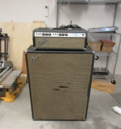 i restored and modded the electronics on this 70 s silverface bassman with he original 2x15 cab [ 1000 x 1333 Pixel ]
