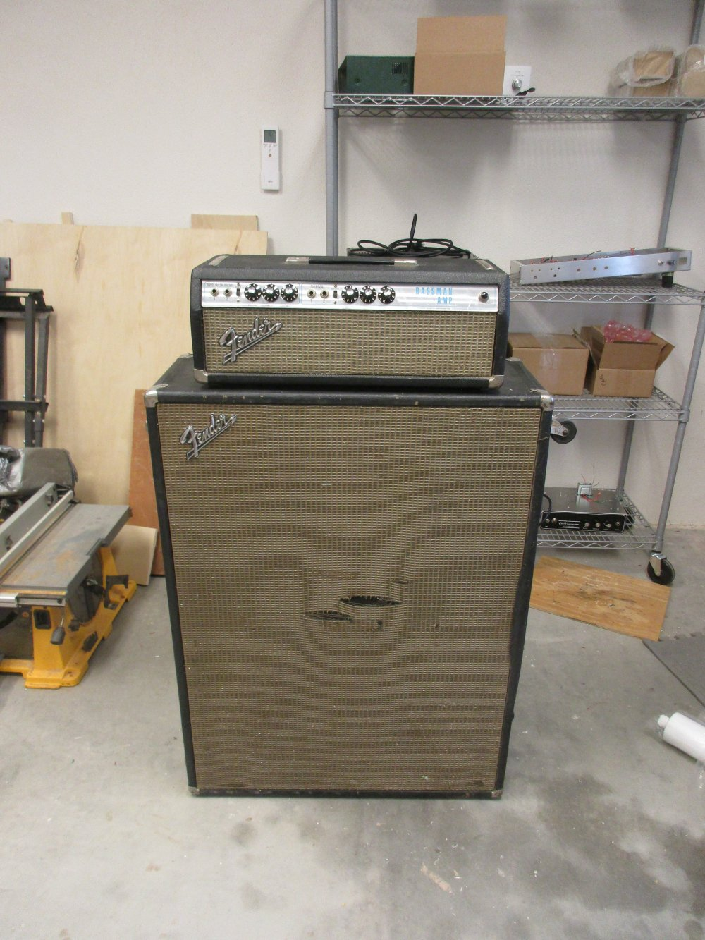 medium resolution of i restored and modded the electronics on this 70 s silverface bassman with he original 2x15 cab