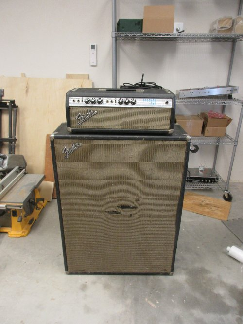small resolution of i restored and modded the electronics on this 70 s silverface bassman with he original 2x15 cab