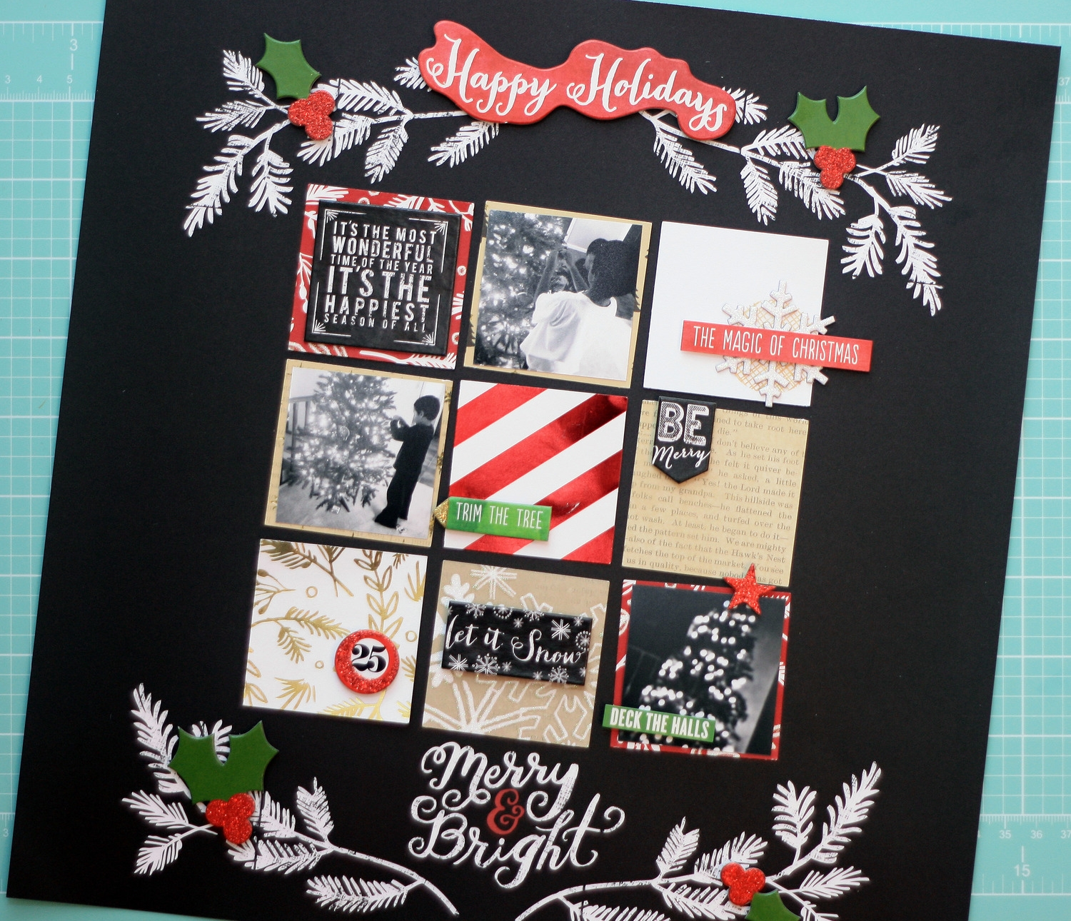 Scrapbook Page Merry Amp Bright Me Amp My BIG Ideas