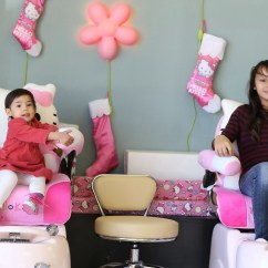 Child Pedicure Chair Small Round Patio Table And 2 Chairs Princess Treatments Perfect 10 Nail Spa With Our Special Hello Kitty Kid Sized We Re Ready To Treat Every Little Like A Queen