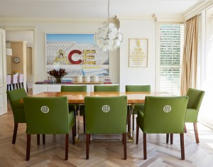 Green Upholstered Dining Chair