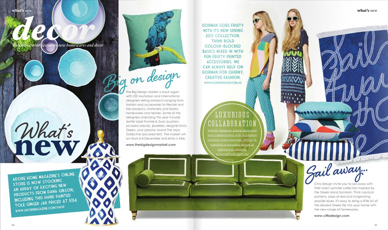 homeware peyton sofa pull out sectional adore home october november 2013 interior design diane 10 11 jpg