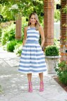 Blue and White Stripe Dresses