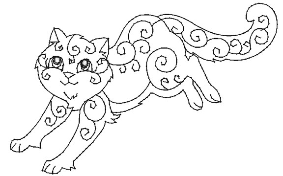 Decorative Cats Mylar or Applique — Purely Gates Embroidery