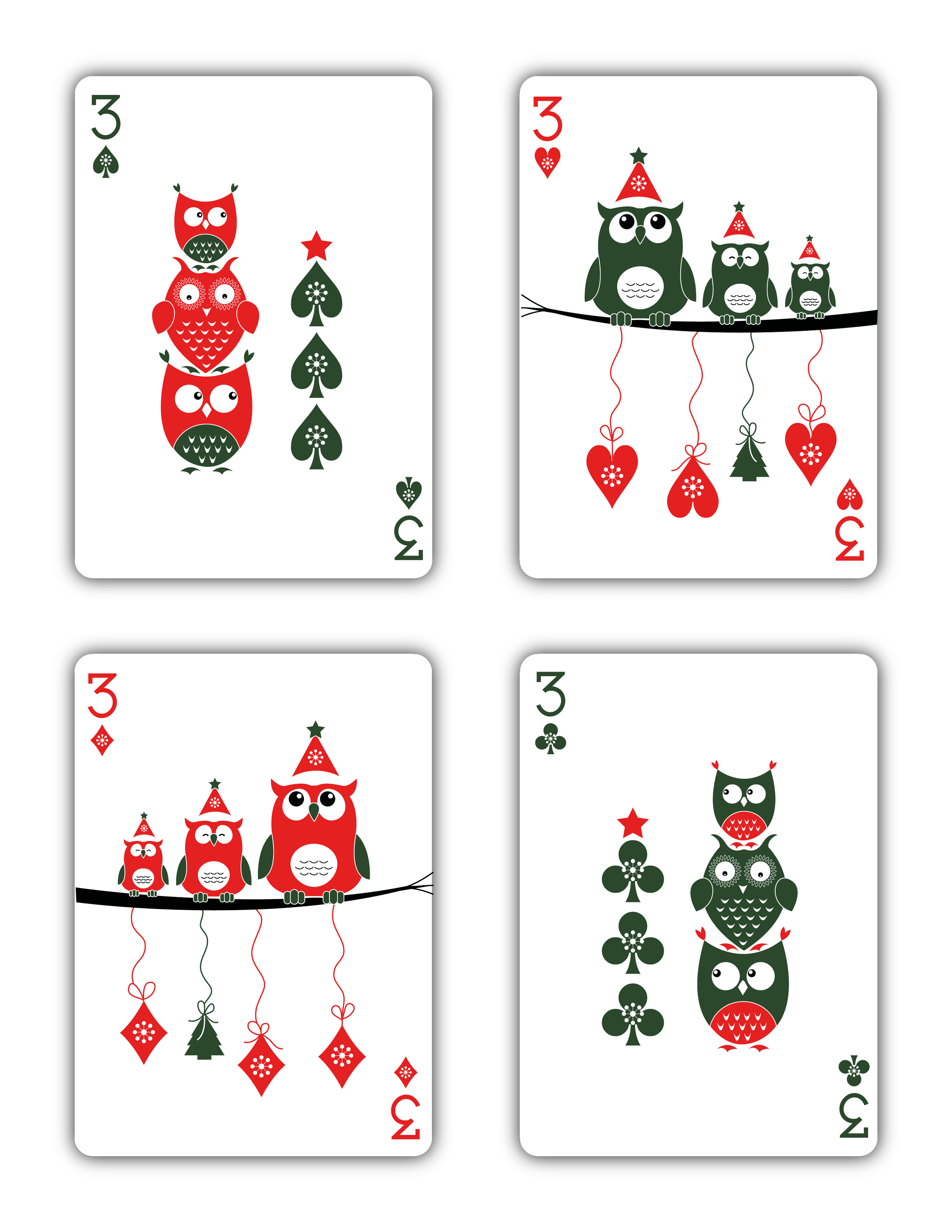 Christmas Playing Cards 2015 Printed By USPCC Natalia
