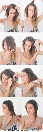 hair tutorial thick summer braid