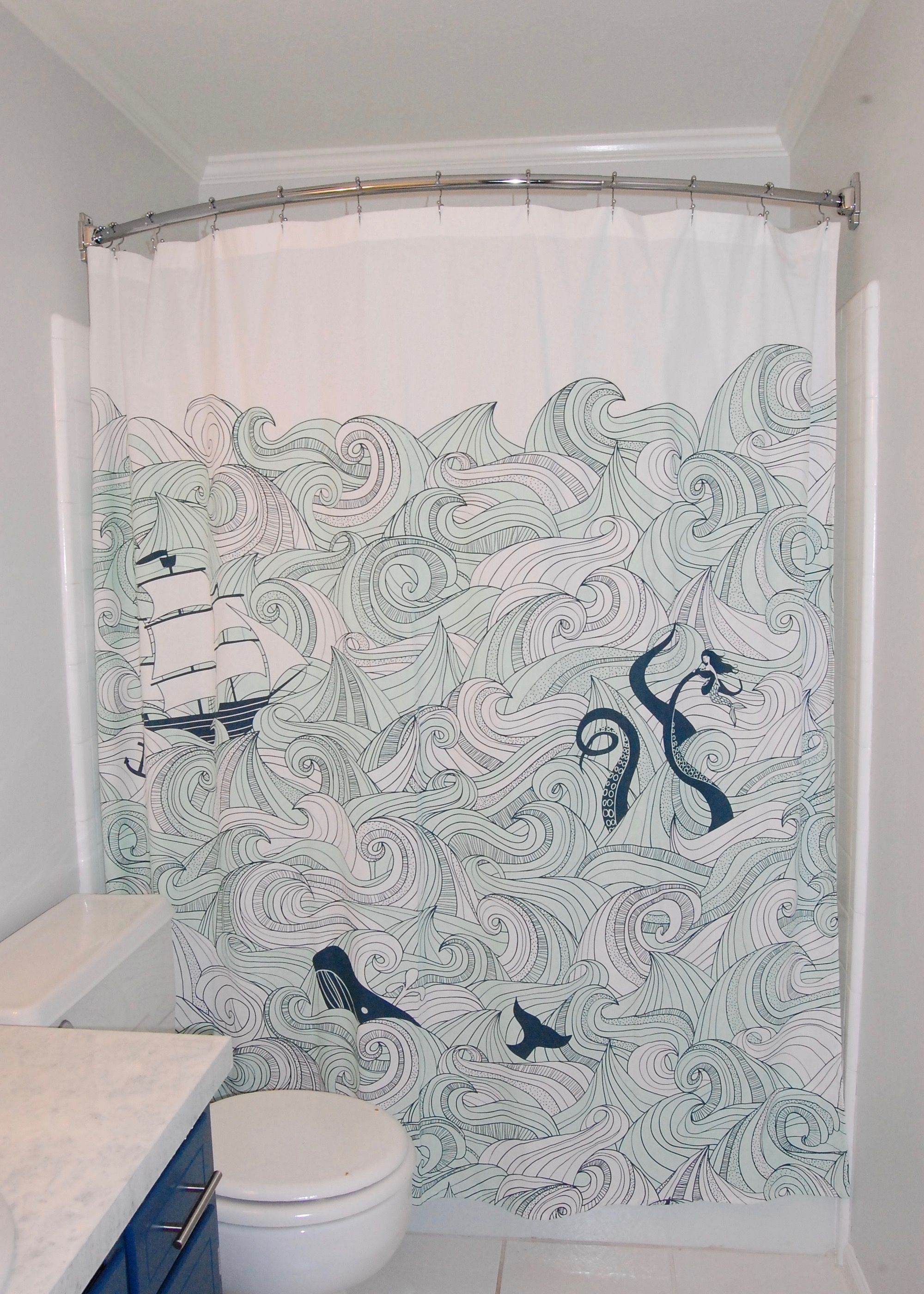 At What Height Should A Shower Curtain Be Installed