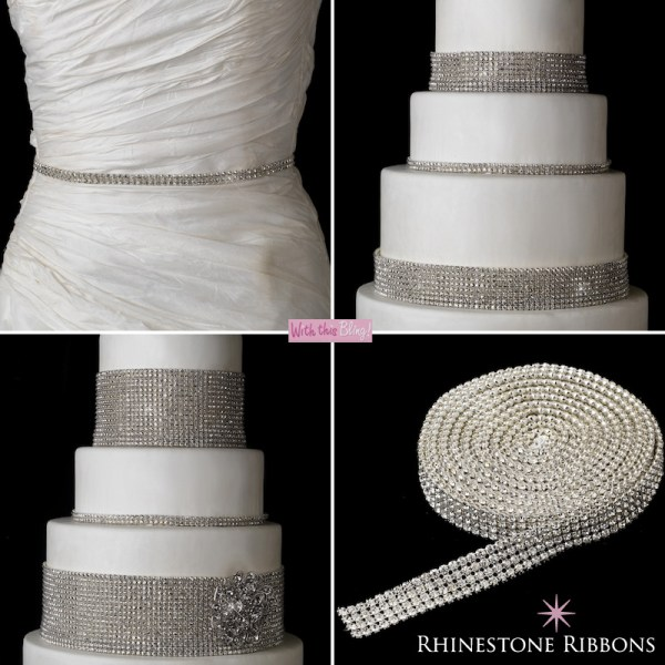 Rhinestone Ribbons And Unique Bridal Bouquets