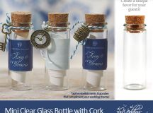 Friday Favor of the Day : Mini Clear Glass Bottles with Cork