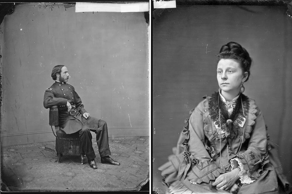 Maj. Henry Rathbone (L), Clara Harris (R)
