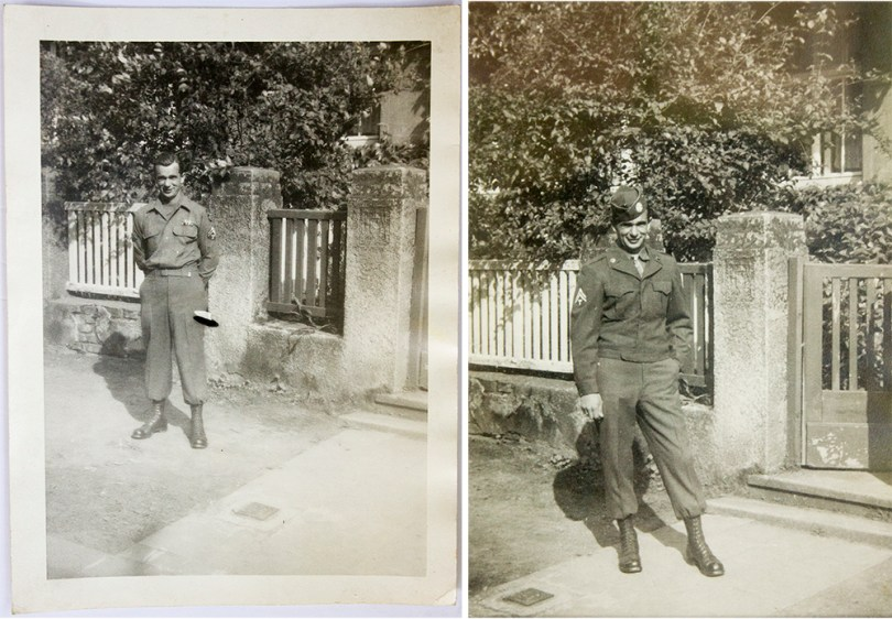 Joe somewhere in Europe. Only paratroopers had the PRIVILEGE of tucking their uniform into their boots!
